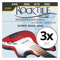 Rocktile E-Bass-Saiten 3er Pack