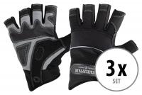 Juego de 3 pares Stagecaptain RGL-0F Rigger guantes de trabajo talla L