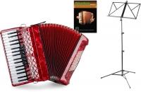 """Classic Cantabile 72 Acordeón Bajo """"Secondo V"""" set Rojo"""