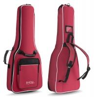 Rocktile Custodia semirigida imbottita per chitarra 1/2 con spallacci ? colore rosso