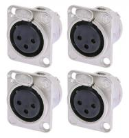 Neutrik NC3FDL1 XLR Einbaustecker female 4er Pack
