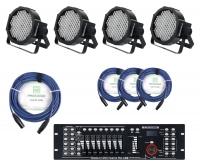 Showlite FLP-144 Scheinwerfer 4 x Set inkl. Showlite Master Pro USB & Kabel