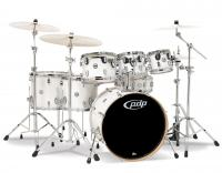 DW PDP Concept Maple 7 Rock Pearlescent White