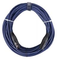 Pronomic Stage DMX3-20 DMX câble 20m bleu avec contacts dorés