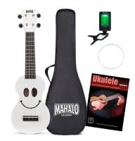 Mahalo U-Smile Serie Sopran-Ukulele Weiß Set