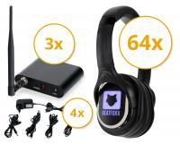 Beatfoxx SCBS-643 Silent Disco V2 Party Set with 64 Headphones and 3 Transmitter
