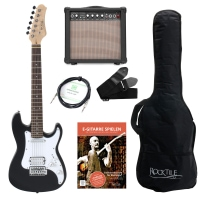 Rocktile Sphere Junior Electric Guitar 3/4 Black SET including amplifier, cable and strap