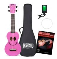 Mahalo U-Smile Serie Sopran-Ukulele Pink Set