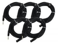 Pronomic Stage JMXM-10 Audiokabel Monoklinke/XLR 10m Schwarz 5er SET