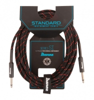 Ibanez SI20-BW Woven Guitar Cable 6,10m - Black/Red