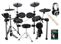 Carlsbro CSD601 E-Drum KitKomplettset mit Kopfhörer, Hocker, Schule und Sticks