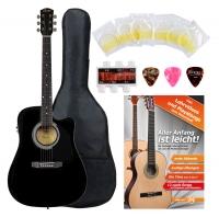 Fender Squier SA-105CE Westerngitarre BK Starter Set