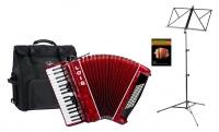 Loib Starter III 72 RD Fisarmonica per principianti Set colore rosso