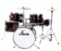 XDrum Junior Pro Kinder Schlagzeug Red inkl. Schule + DVD - Retoure (Zustand: sehr gut)