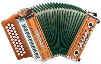 "Alpenklang Harmonika ""Mini"" 3-reihig, G-C-F massiv aus Kirschholz"