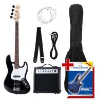 Rocktile Groovers Pack JB Set pour basse électrique (Black)
