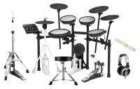 Roland TD-17KVX V-Drum Kit Set inkl. Hocker, Sticks, Fußmaschine & Kopfhörer
