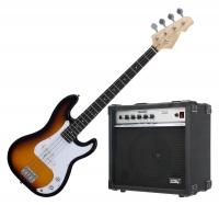 Rocktile Bajo eléctrico Puncher Bass sunburst (incluye amplificador)