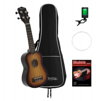 Dimavery UK-200 Sopran Ukulele sunburst Set