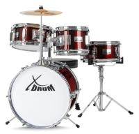 XDrum Junior Drumset, Kinderdrumstel Lipstick Red (Rood)