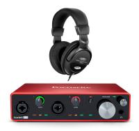Focusrite Scarlett 4i4 USB Audio-Interface Set