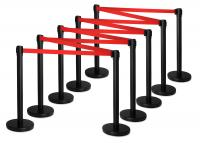Stagecaptain PLS-200B Barricade Crowd Direction System ? Black 10-Piece SET