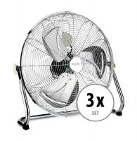 "Stagecaptain FV-200 PolarPower 20"" Ventilatore da pavimento, set 3 pezzi"