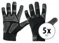 Juego de 5 pares de guantes Stagecaptain Rigger L largos