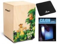 Schlagwerk CP400 Tiger Box Cajon Set inkl. Sitzpad und Schule