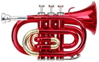 Classic Cantabile Brass TT-400 zaktrompet in B rood