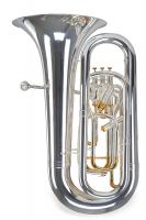 Lechgold Supreme BT-490S Bb-Tuba versilbert - 1A Showroom Modell (Zustand: wie neu)