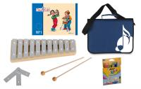 Sonor Früherziehungsset mit Tina und Tobi-Heft, GP Glockenspiel, blauer Notentasche und Stifte