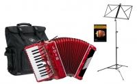 Loib Starter II 48 BK Fisarmonica per principianti Set colore rosso