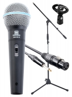 Pronomic Superstar JACK Lot de Microphones Microphones+ Pied + XLR Câble jack