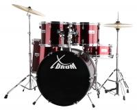 """XDrum Semi 22"""" Standard Schlagzeug Lipstick Red Set inkl. Schule + DVD - Retoure (Zustand: sehr gut)"""