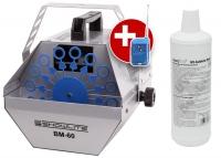 Showlite BM-60 machine à bulles de savon, y compris fluide bleu