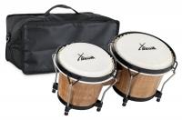 XDrum Bongo Club Standard Tobacco SET incl. Bongo carrying bag