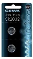 Gewa CR2032 Ultra Lithium Batterie 2er Set