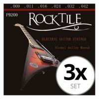 Rocktile cuerdas de guitarra eléctrica pack de 3