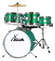 XDrum Junior Set de batterie pour enfants Emerald Green Sparkle (Vert)