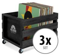 "Stagecaptain SPK-100 BK Caja para discos ""Emil"" Negro 3x Set"