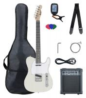 McGrey Rockit Electric Guitar TL-Style Complete Set: Antique White