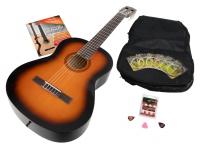Calida Benita Konzertgitarre Set 4/4 Sunburst mit Zubehör