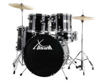 """XDrum Semi 22"""" Standard Schlagzeug Set Midnight Black inkl. Schule + DVD - Retoure (Zustand: sehr gut)"""