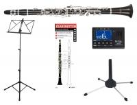 Classic Cantabile CL-20 Bb Klarinette deutsch SET incl. Metronom, Notenständer, Klarinettenständer, Klarinettenspicker