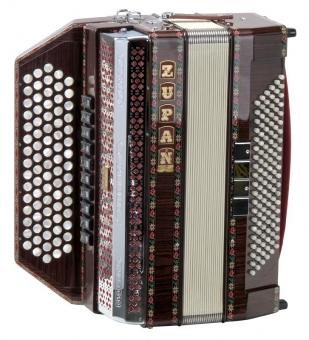 Zupan IV-120 K/M chromatisches Knopfakkordeon, Palisander