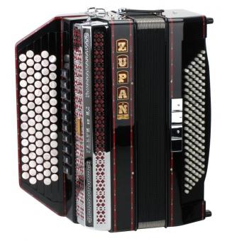 Zupan IV 120 K/M chromatisches Knopfakkordeon Schwarz
