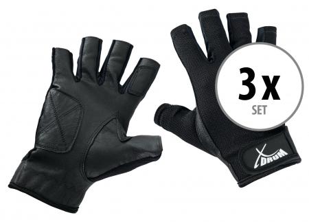 Juego de 3 pares de guantes  XDrum Drummer L cortos
