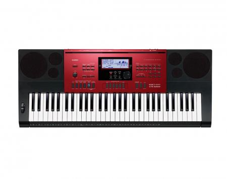 Casio CTK-6250 High-Grade-Keyboard 61 Tasten, MP3, schwarz-rot  - Retoure (Zustand: sehr gut)