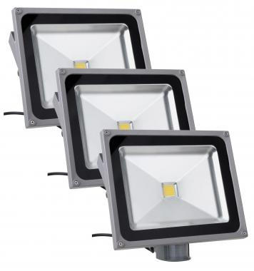 Showlite FL-2050B LED Fluter IP65 50 Watt 5500 Lumen 3er SET